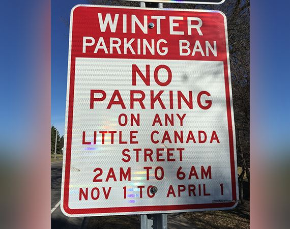 Winter No Parking Spotlight Image