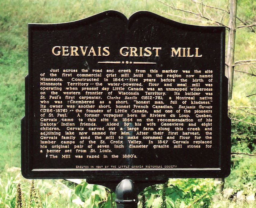 Gervais Grist Mill Site Sign